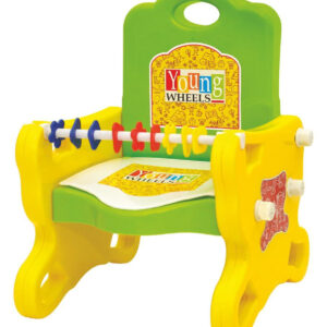 Young Wheel Peep-Peep Potty Training Seat Cum Baby Chair 2 in 1- Green-0