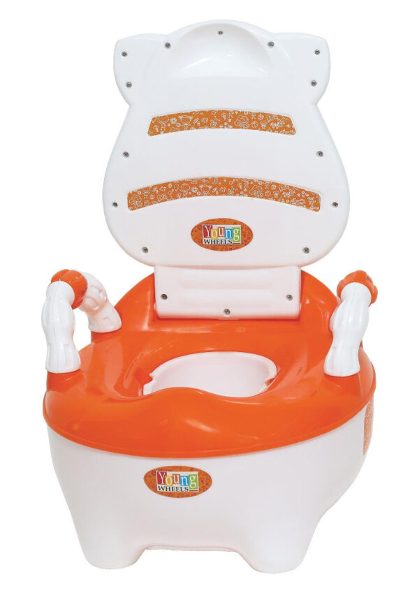 Young Wheel Baby Chair & Potty Trainer 2 in 1- Orange-33387
