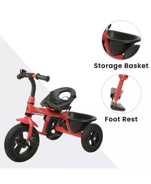 R for Rabbit Tiny Toes Grand The Smart Plug N Play Tricycle - Red-33331