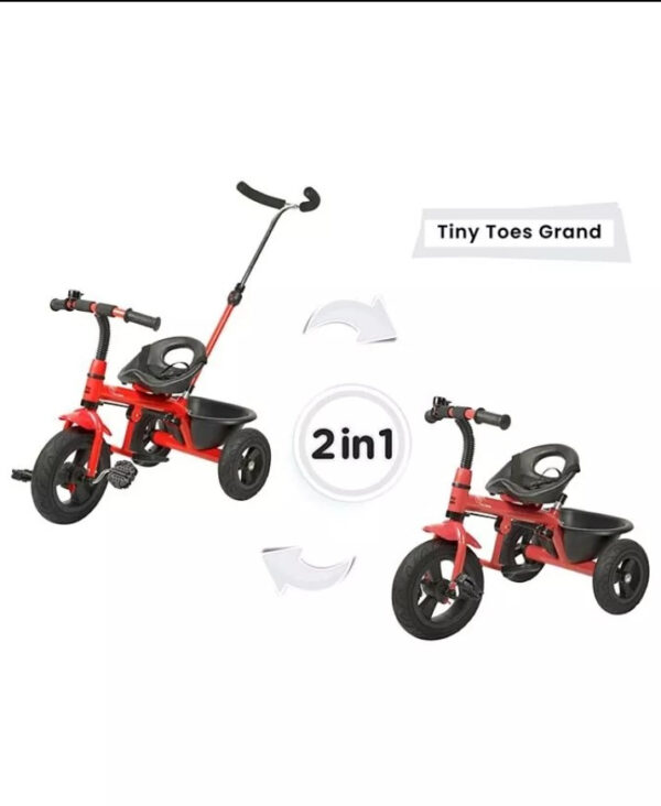 R for Rabbit Tiny Toes Grand The Smart Plug N Play Tricycle - Red-0