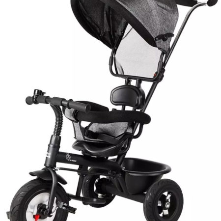 R for Rabbit Tiny Toes Sportz Tricycle - Black-0