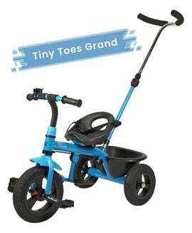 R for Rabbit Tiny Toes Grand Plug N Play Tricycle - Blue Black-0