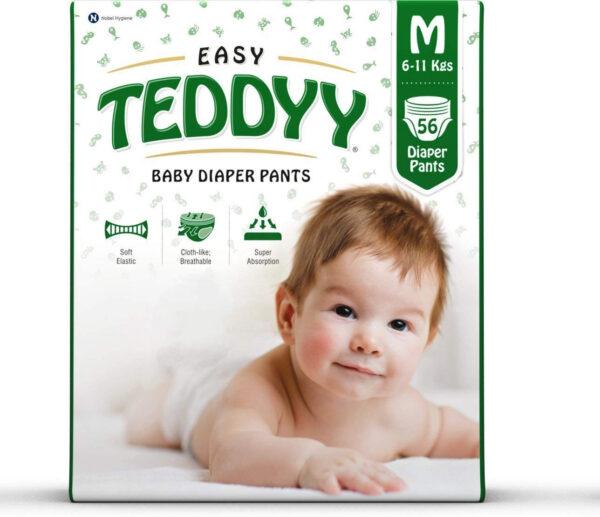 Teddyy Baby Easy Medium Diaper Pants (Pack of 56)-0